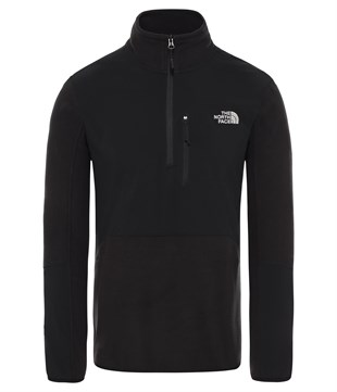 The North Face Glacier Pro 1/4 Zip Erkek Sweatshirt Siyah