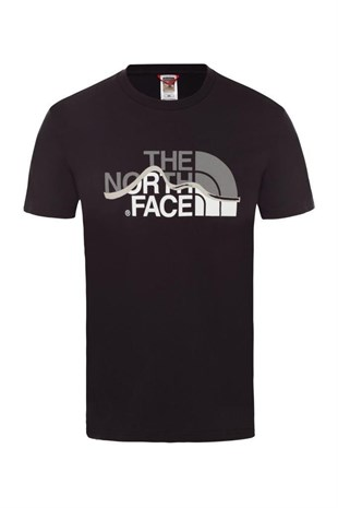 The North Face M S/S Mountain Line Tee Erkek T-Shirt Siyah